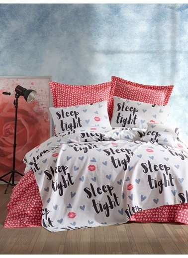 EnLora Home %100 Doğal Pamuk Pike Örtü Tek Kişilik SleepTight Fuşya-Beyaz Fuşya